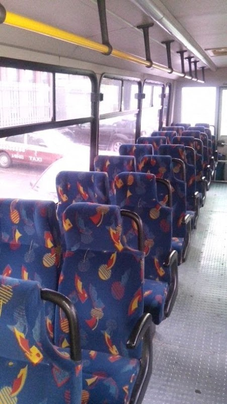 Interiores autobús para transporte
